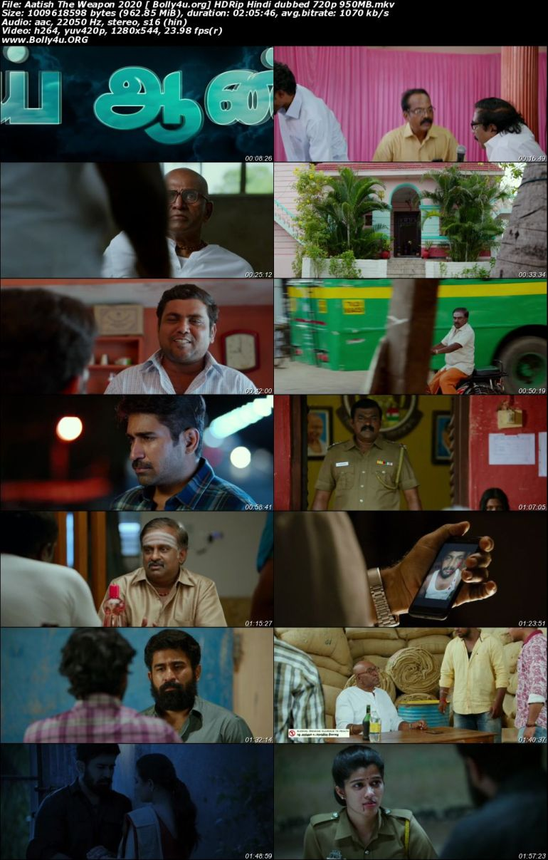 Aatish The Weapon 2020 HDRip 350Mb Hindi Dubbed 480p Download