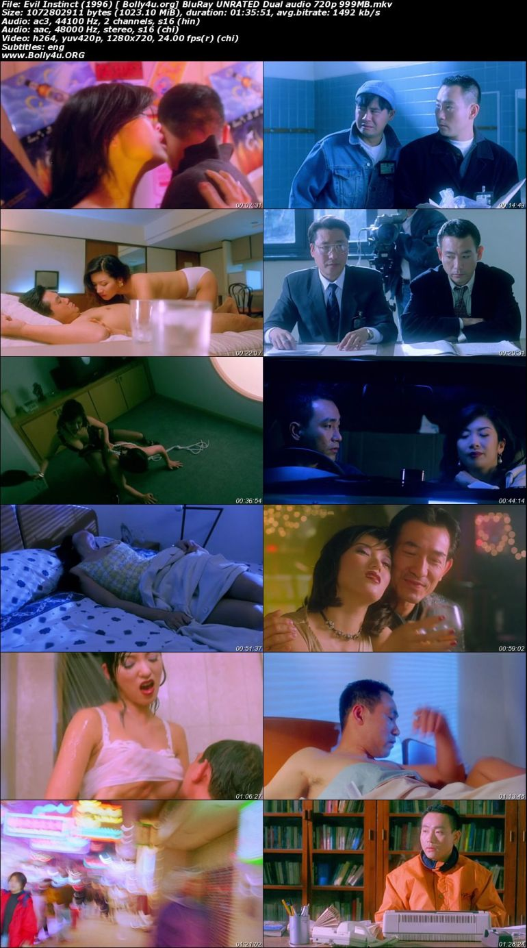 18+ Evil Instinct 1996 BluRay 300Mb UNRATED Hindi Dual Audio 480p Download