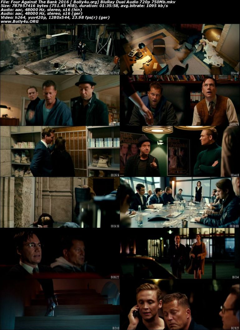 Four Against The Bank 2016 BluRay 750Mb Hindi Dual Audio 720p Download