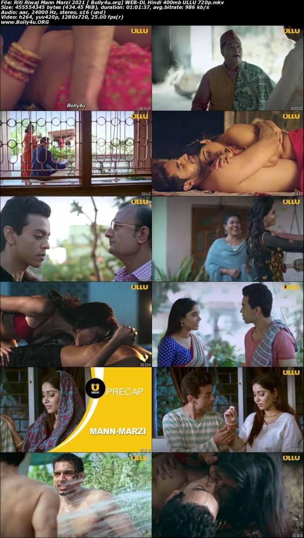 Riti Riwaj Mann Marzi 2021 WEB-DL 400Mb Hindi ULLU 720p Download