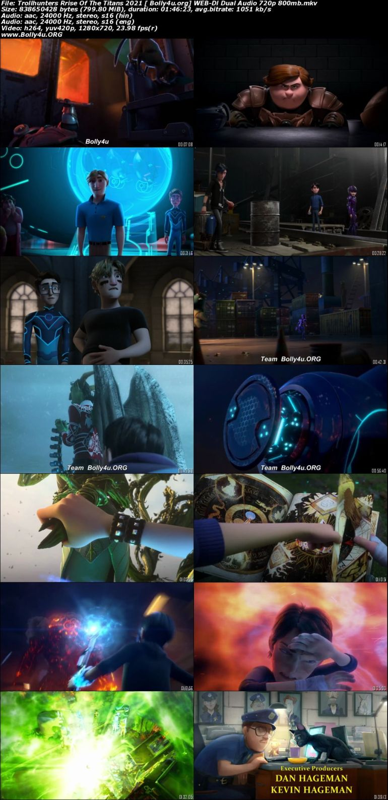 Trollhunters Rrise Of The Titans 2021 WEB-DL 800Mb Hindi Dual Audio ORG 720p Download