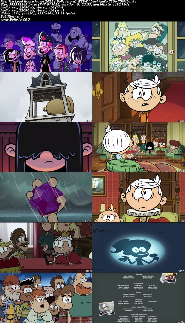The Loud House Movie 2021 WEB-DL 750MB Hindi Dual Audio 720p Download