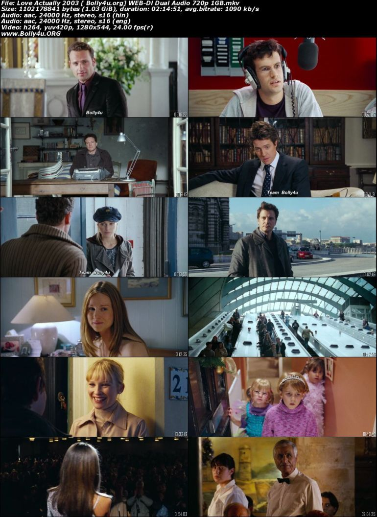 Love Actually 2003 WEB-DL 1GB Hindi Dual Audio ORG 720p Download