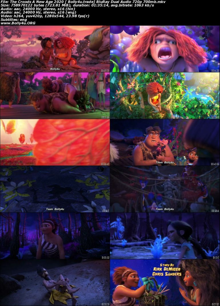 The Croods A New Age 2020 BluRay 700MB Hindi CAM Dual Audio 720p Download
