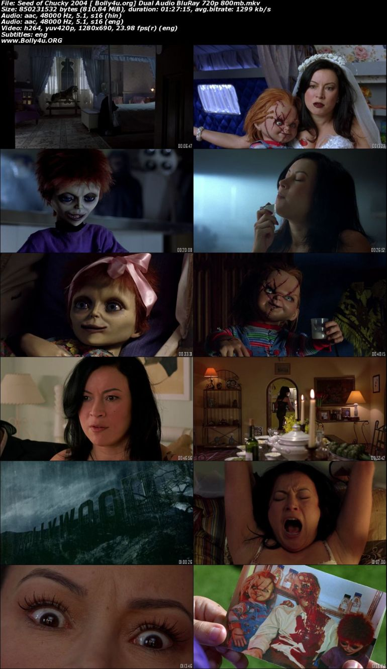Seed of Chucky 2004 BluRay 800Mb UNRATED Hindi Dual Audio 720p Download