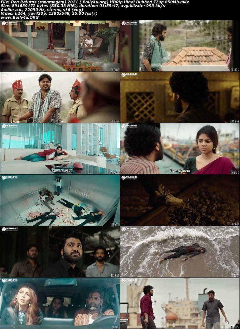 Don Returns 2021 HDRip 850Mb Hindi Dubbed 720p Download