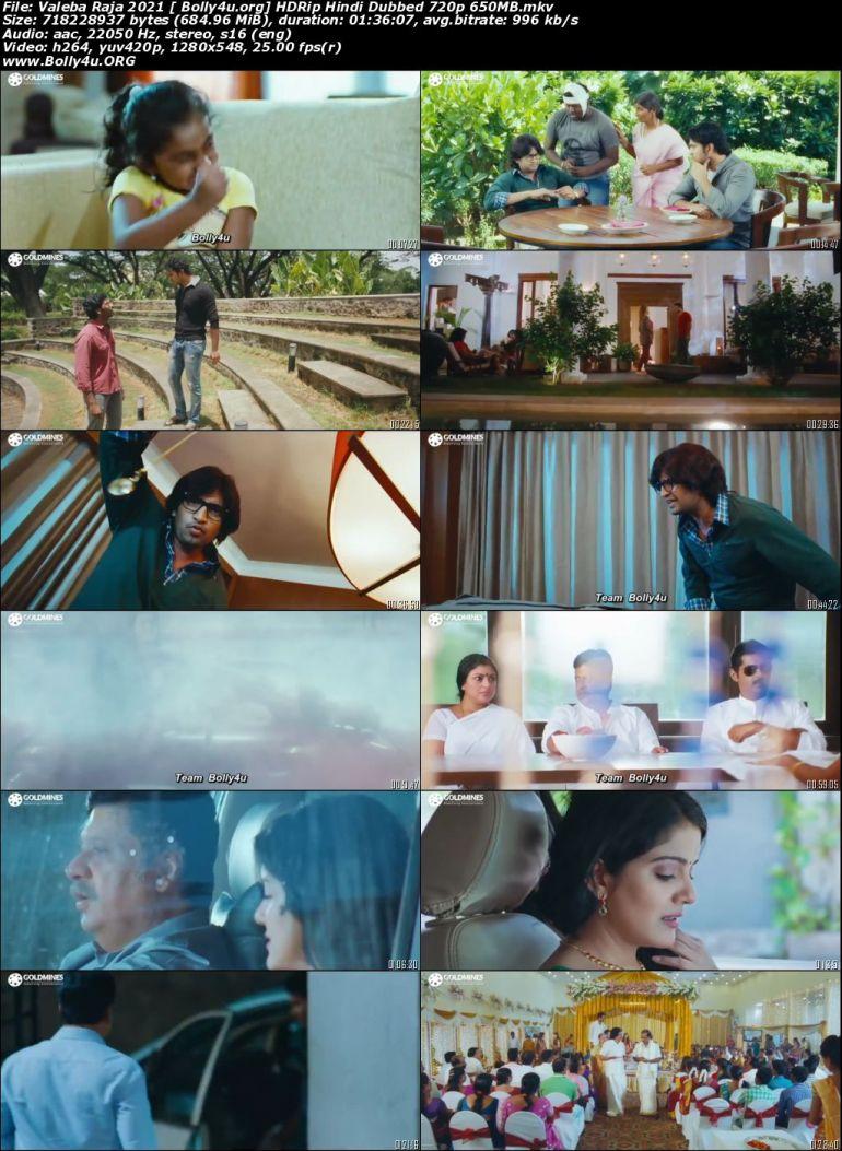 Valeba Raja 2021 HDRip 300Mb Hindi Dubbed 480p Download