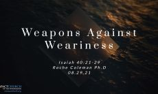 Weapons Against Weariness