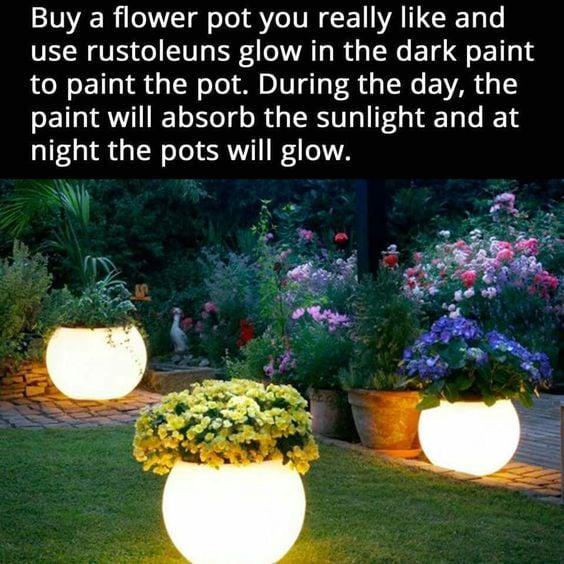 Glow Dark Pots Pinterest