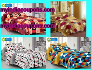 Branded 100% Cotton Double BedSheets With 2 Pillow Cover @ Just Rs. 299