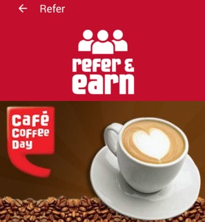 Cafe Coffee Day Refer & Earn