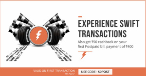 Freecharge 50POST Coupon