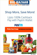 BigBazaar Paytm Cashback Offer