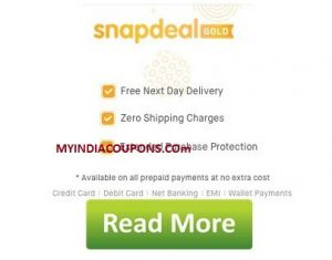 0a23e581f Snapdeal Gold Free Shipping Offer To Get   Snapdeal Next Day Delivery