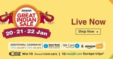 Amazon Great Indian Sale || Additional 15% Cashback On App