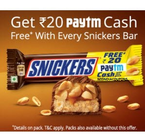 Snickers Bar Paytm Offer
