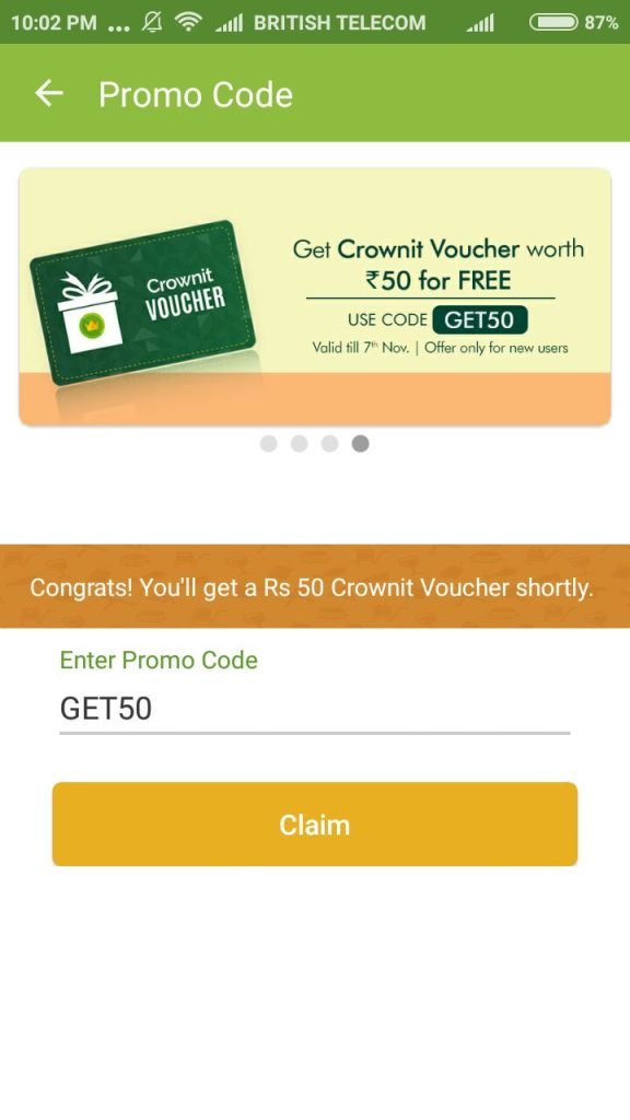 Crownit 100 Loot OFfer