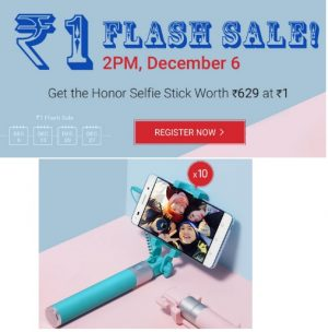 Honor Rs1 Flash Sale
