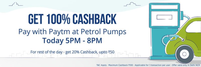 Petrol Fuel Cashback Offer