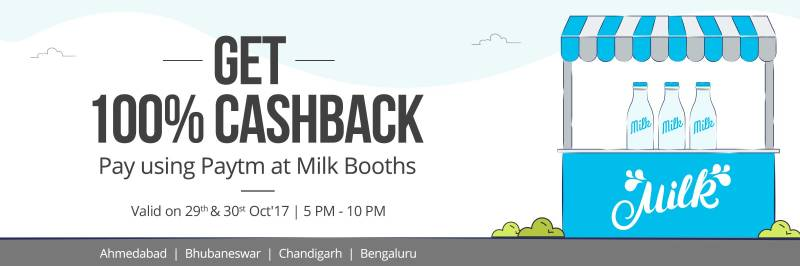 Milk Booth Cashback Coupons