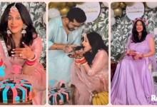 Photo of Kishwer Merchant along with husband Suyyash Rai celebrates baby shower in Indian and Western way, see photos