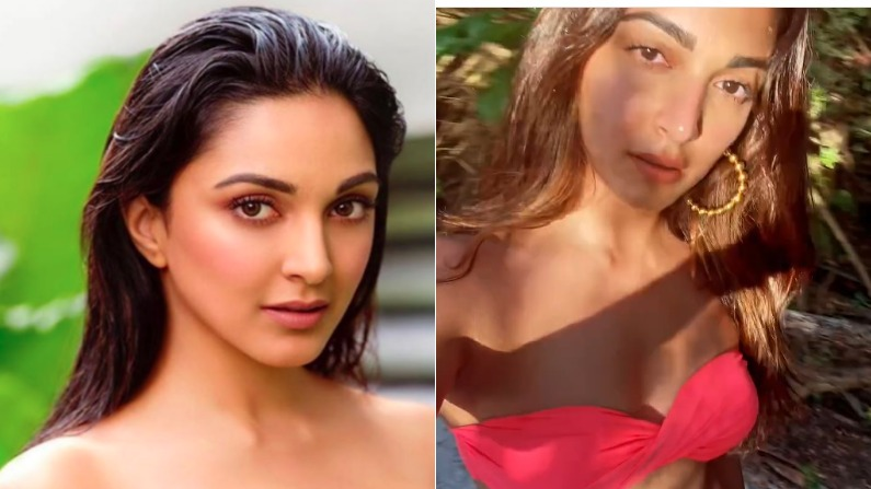 Video: Kiara Advani flaunts hotness in a red bikini, watch this actress's style by holding her heart