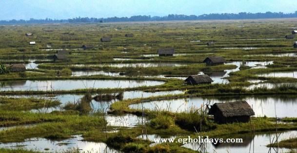 """""""Un paseo por el lago flotante Loktak en Manipur -India"""""""