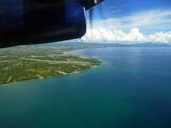 Leaving Honiara on - well, not exactly a jet plane