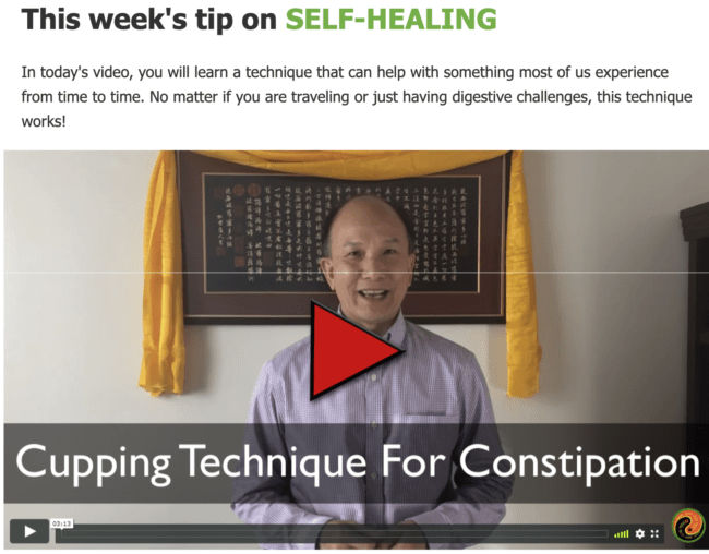 Cupping Technique for Constipation