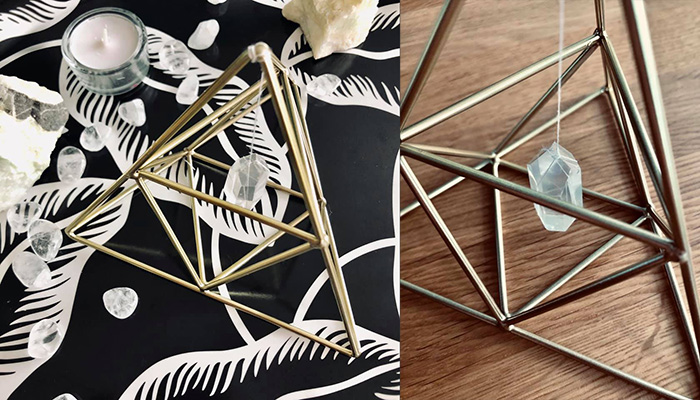 DIY: Piramidka wzmacniająca działanie kryształów (i innych kamieni)