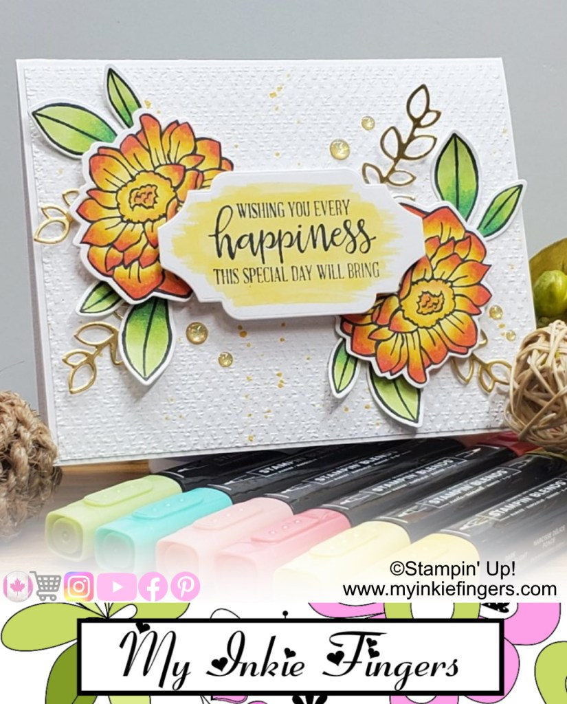 Band Together Card Stampin' Up! - Blending with Stampin' Blends