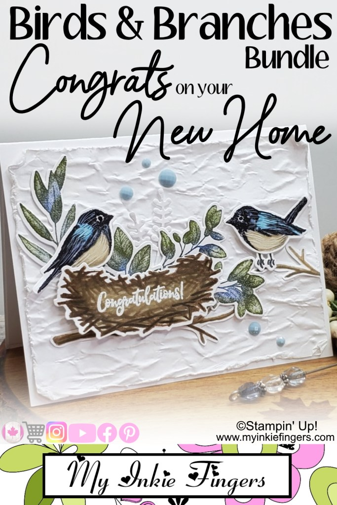 Birds & Branches Bundle - Stampin' Up! Congrats on your New Home Card