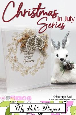 Christmas in July Handmade Classy Wreath Christmas Card