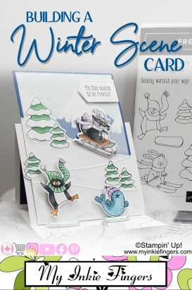 Building a Scene Card | Stampin' Up! Winter Scene Card