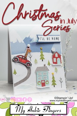 Stampin' Up! Christmas Card 2020 Stampin Up Mini Catalog 2020 How to Mask a Stamped Image Card
