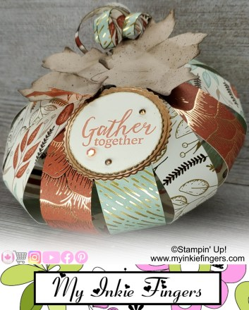 Festive Paper Decorations | Paper Pumpkin Decorations | Thanksgiving Table Decorations | Stampin Up