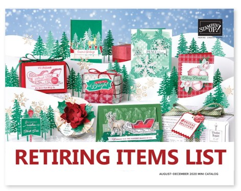 August - December 2020 Stampin Up Mini Catalog Retiring List