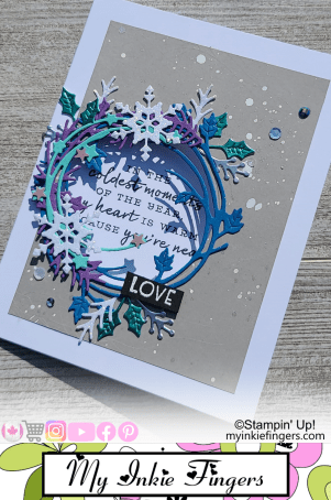 Stampin Up Christmas Wreath Window Card 2021