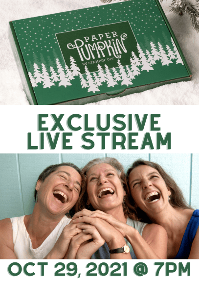 October 2021 Peaceful Christmas Paper Pumpkin Kit - Stampin' Up! EXCLUSIVE LIVE STREAM