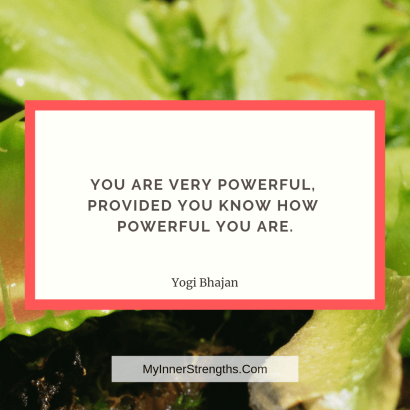 Employee Quote 5 My Inner Strengths You are very powerful, provided you know how powerful you are.