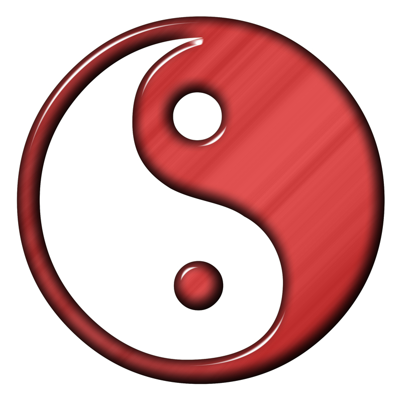 red and white yin yang