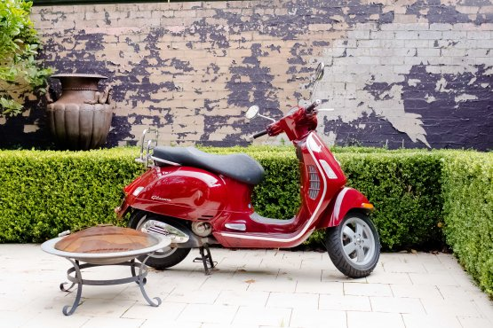 A vespa isn't just handy for Inner West exploring, it creates a sense of fun and interest in any Inner West backyard