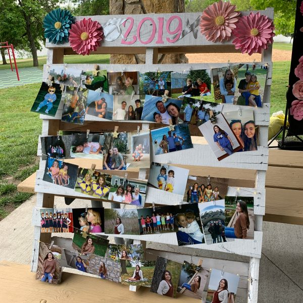 photo display idea for graduation