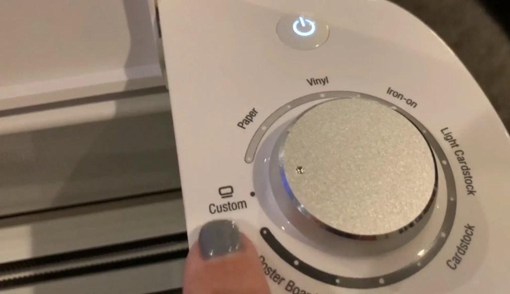 cricut machine dial