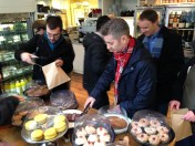 Picking our treats on the food tour