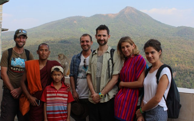 Day bus friends at Mt Popa