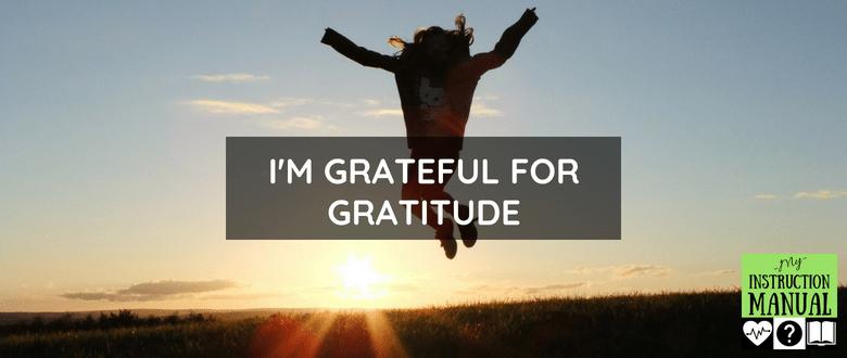 Grateful for Gratitude | My Instruction Manual