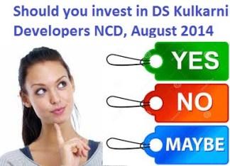 DS Kulkarni Developers Secured NCD-Aug-14