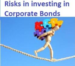 Risks in investing in Corporate Bonds