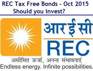 REC Tax Free Bonds Oct 2015